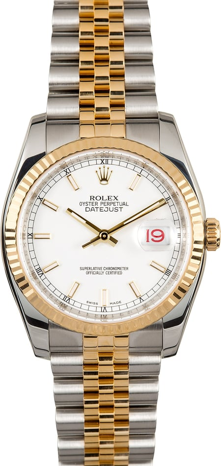 Rolex Datejust Two-Tone 116233 White