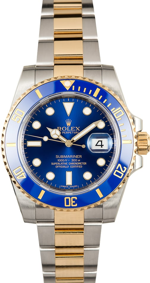 Submariner Rolex 116613LB Sunburst Blue