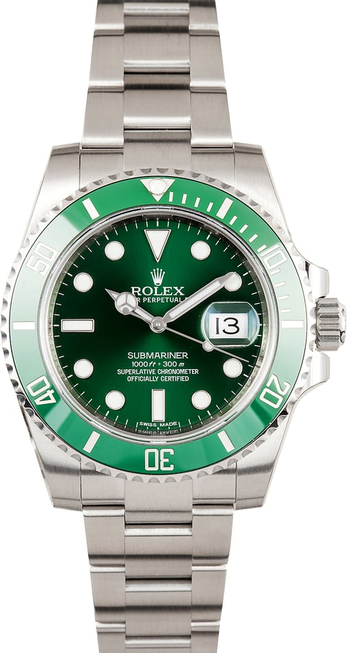 PreOwned Rolex Submariner 116610V Ceramic 'Hulk' Model