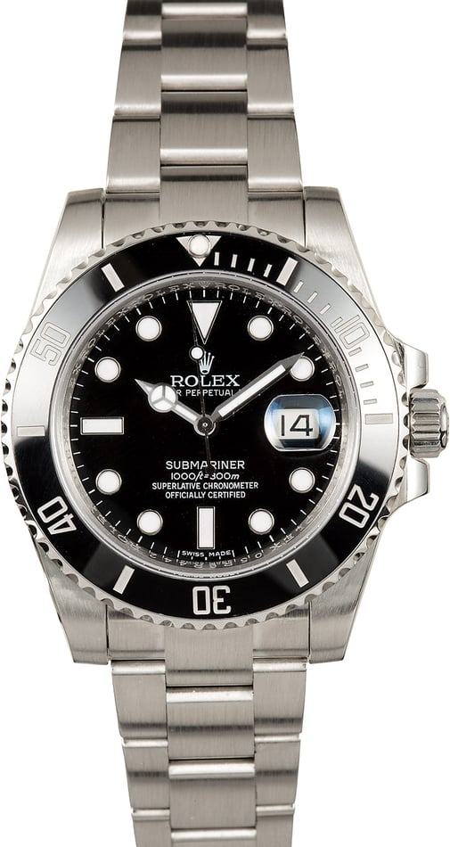 Certified Rolex Submariner 116610 Steel Band