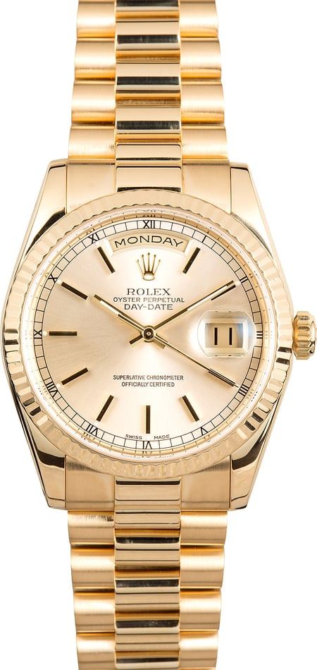 Men's Rolex President 118238 Yellow Gold Day-Date