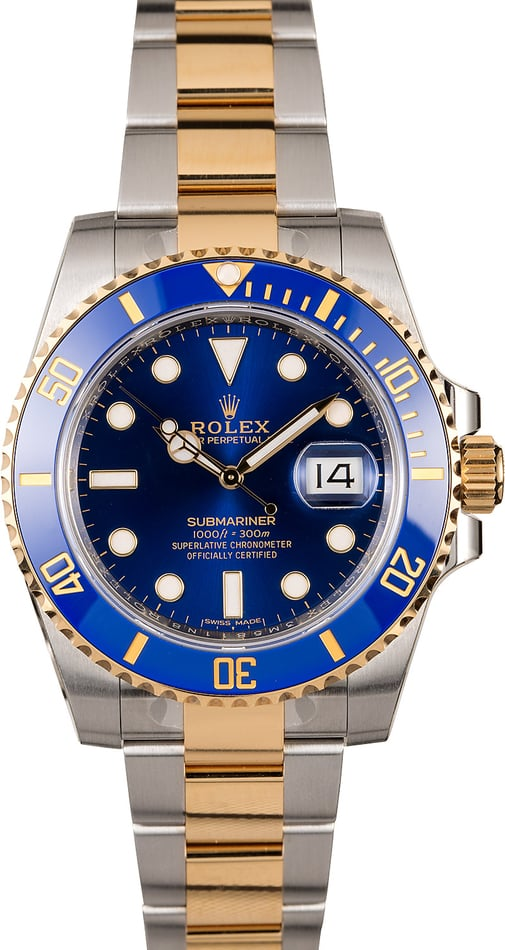New Rolex Submariner 116613 Two Tone Ceramic Bezel