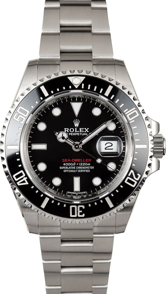 Pre-Owned Rolex Sea-Dweller 126600 Red Lettering