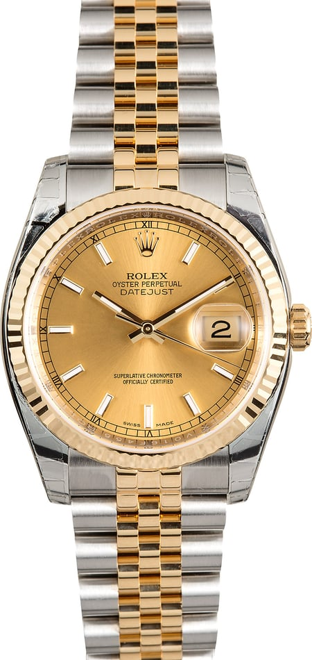 Men's Rolex Datejust 116233 Champagne Dial