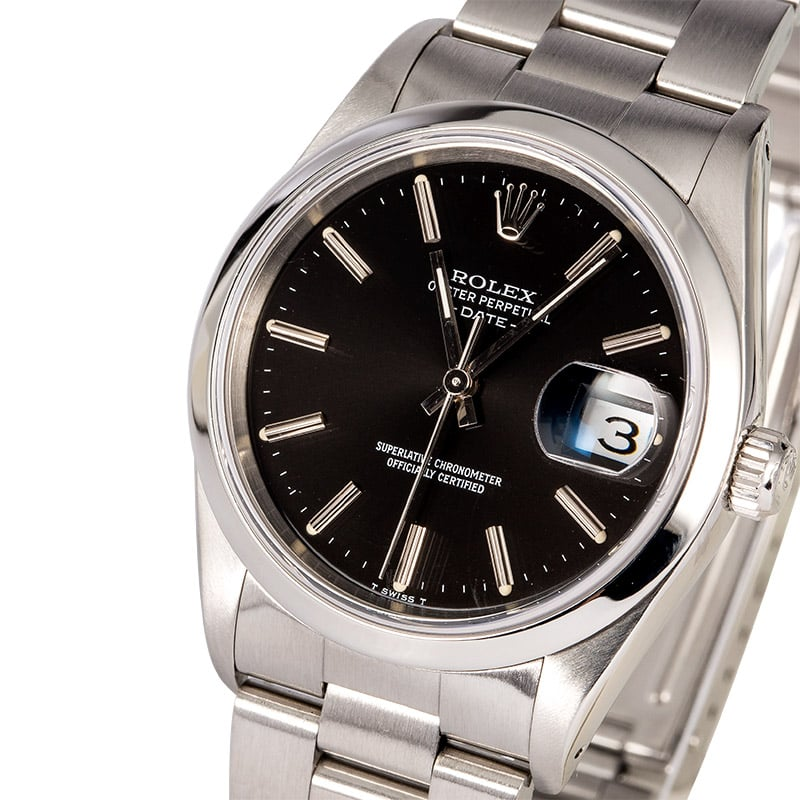 5a400b15908f Rolex Date 15200 Black Index Dial