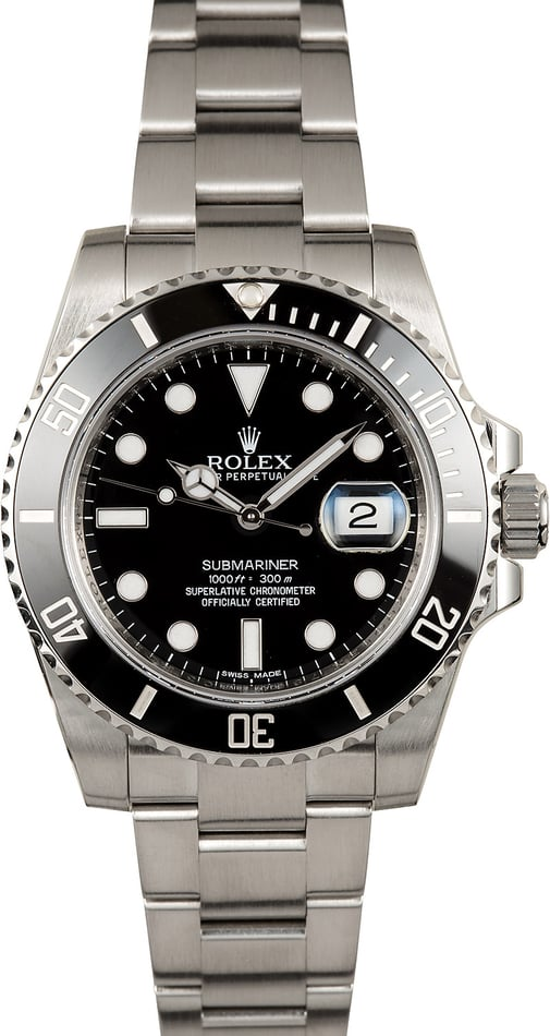 Factory Stickered Men's Rolex Submariner 116610