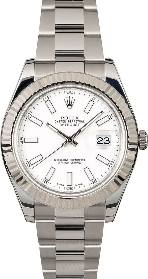 Rolex Datejust 116334 White Luminescent Dial