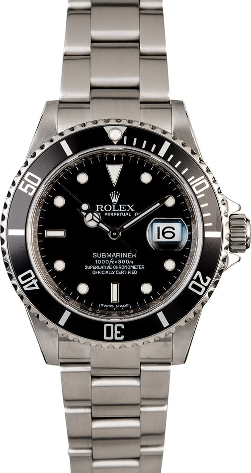 Rolex Submariner 16610T Steel Oyster Men's Watch