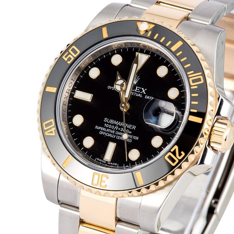b895f799efa PreOwned Rolex Submariner 116613 Luminescent Dial