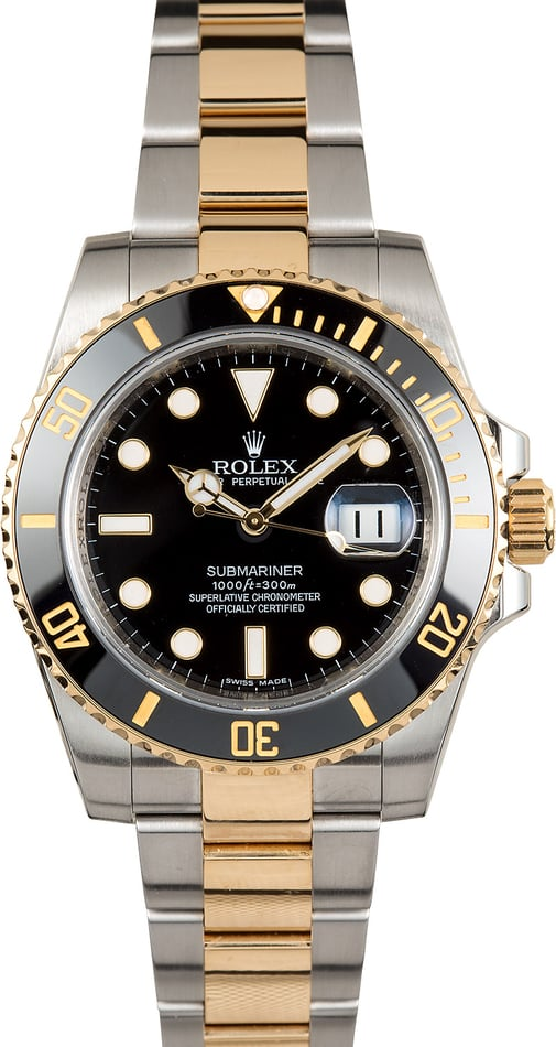 Men's Rolex Submariner 116613 Luminescent Dial
