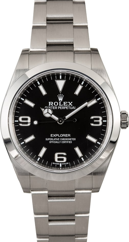 Certified Rolex Explorer 214270 Luminescent Arabic Markers