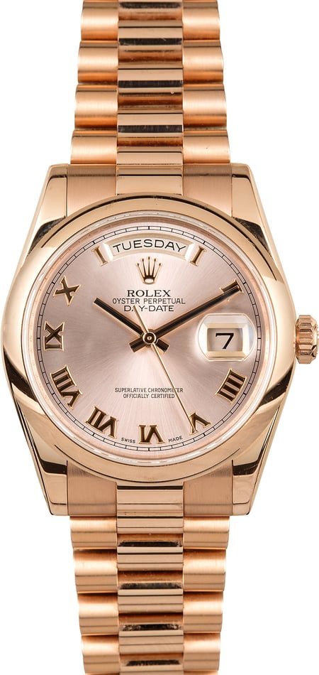 Rolex Day-Date President 118205 Everose Gold