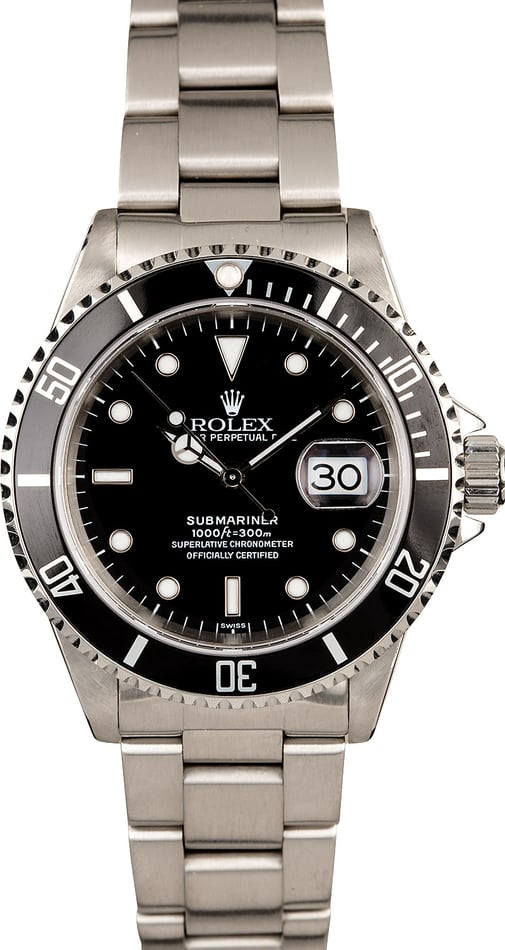 Rolex Submariner 16610 Stainless Steel Oyster Perpetual