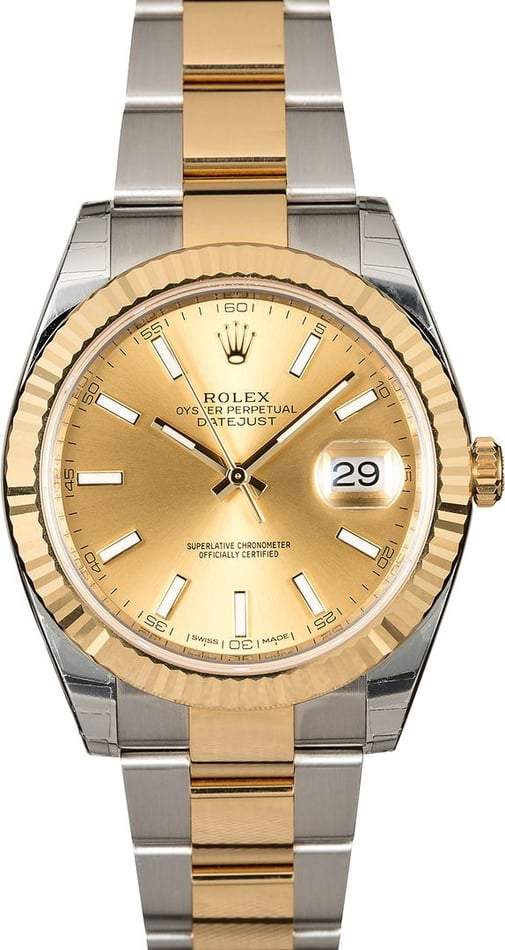 Rolex Datejust 126333 Champagne Two Tone Oyster