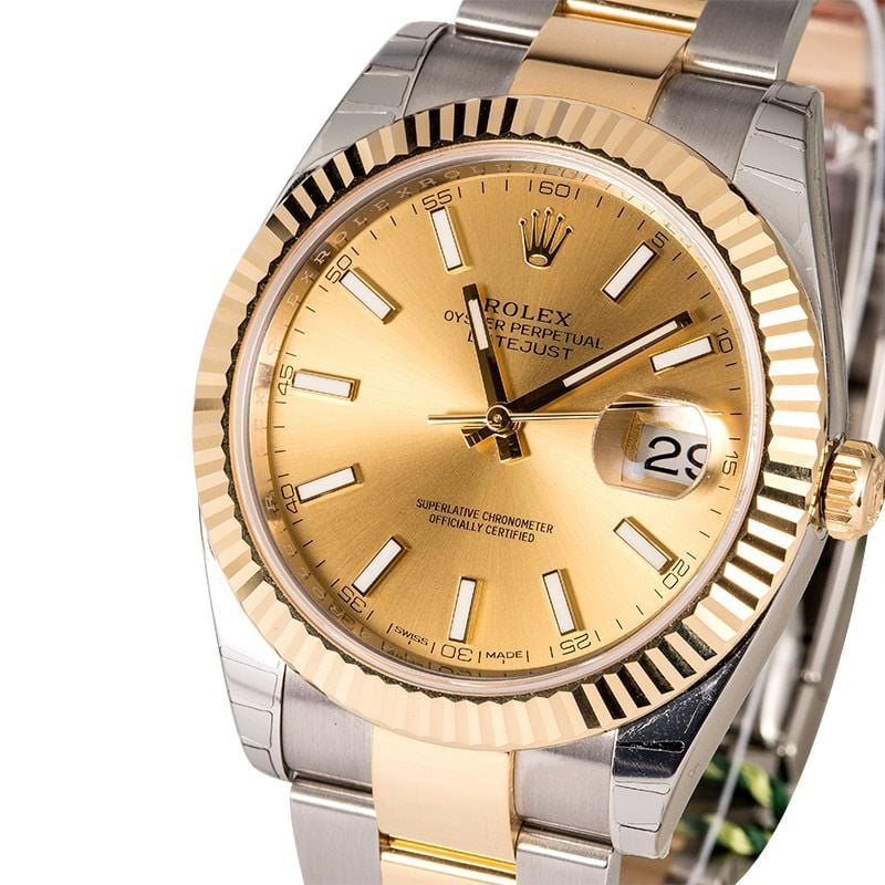 rolex oyster perpetual datejust - mens & lady stainless & gold