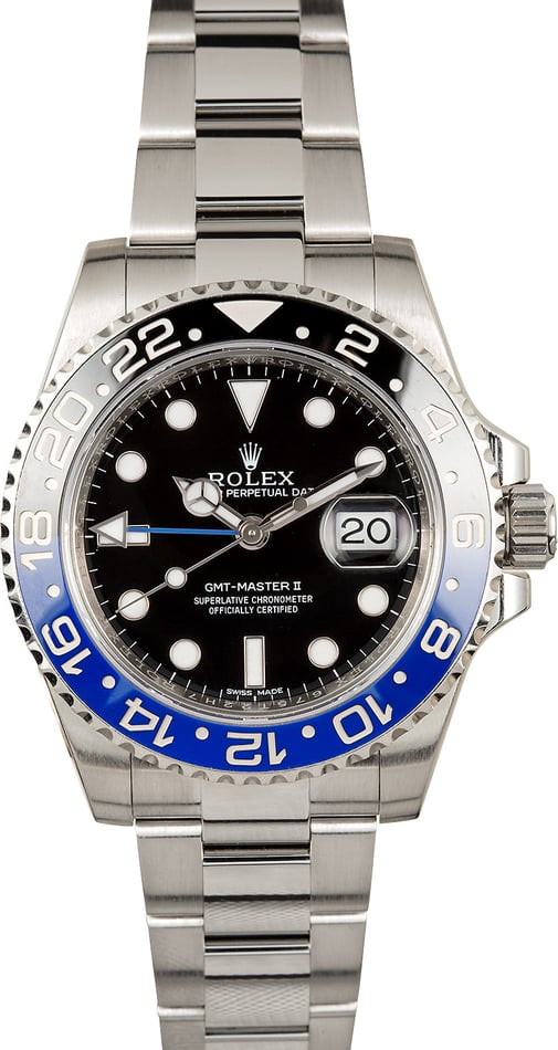 PreOwned Rolex GMT-Master 116710 'Batman'