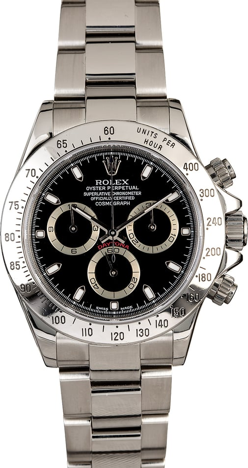 Men's Rolex Daytona 116520 Stainless Steel