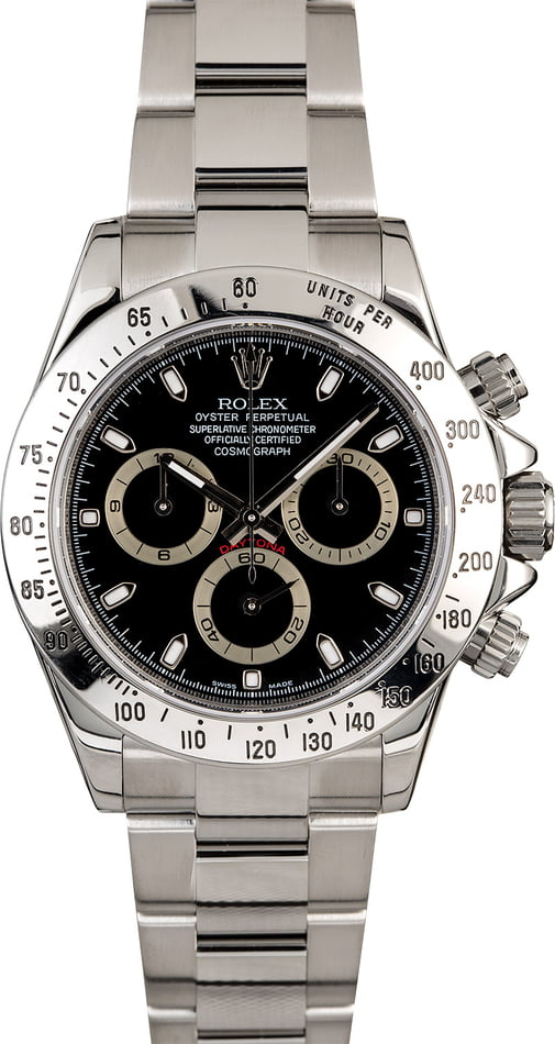 PreOwned Rolex Daytona 116520 Serial Engraved