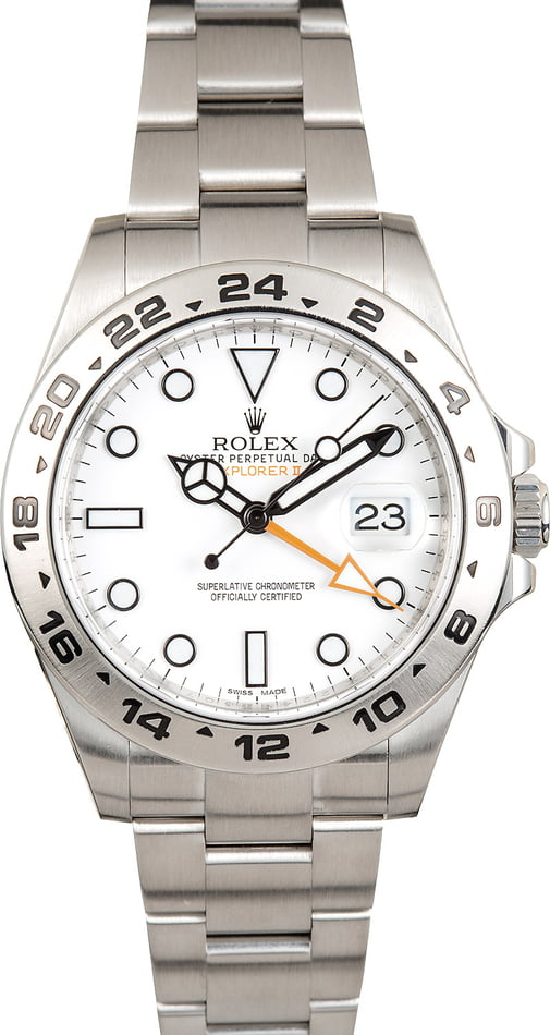 Pre-Owned Rolex Explorer II Ref 216570 Stainless Steel