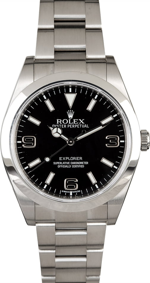 Men's PreOwned Rolex Explorer 214270 Stainless Steel