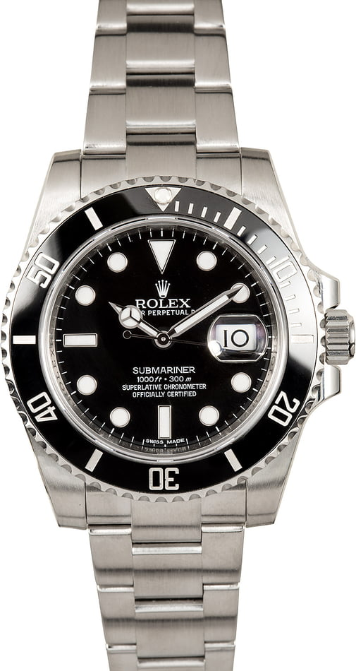 PreOwned Rolex Submariner 116610 Stainless Steel Watch