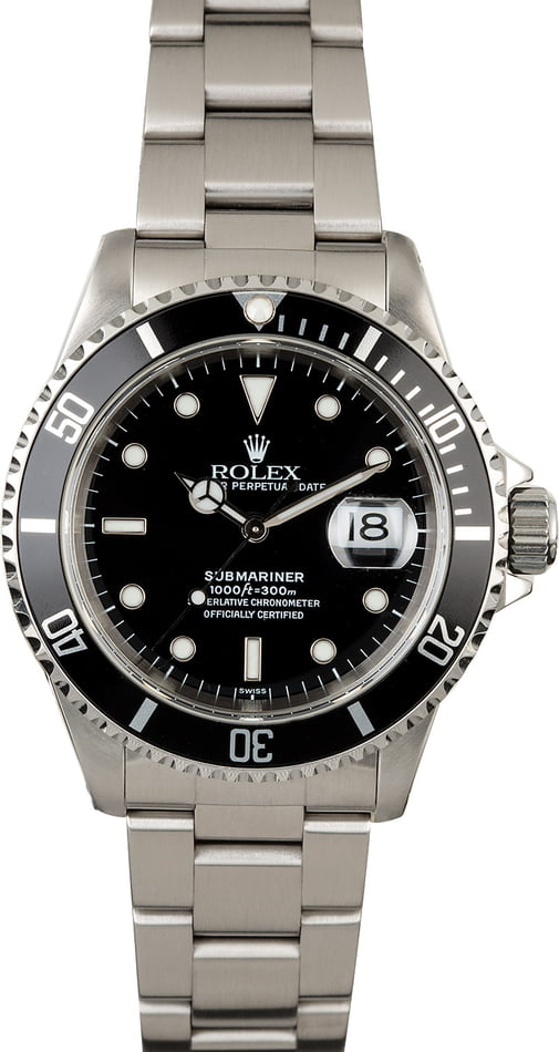 Used Rolex Submariner 16610 Steel Oyster Perpetual