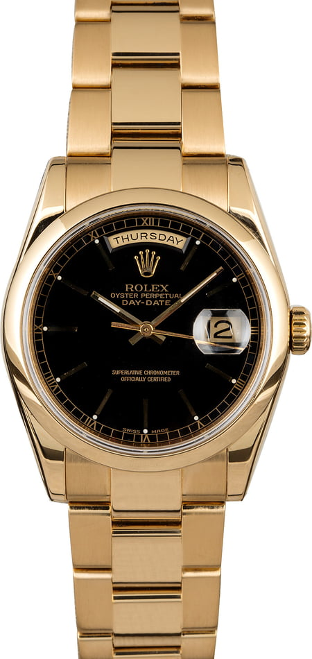 Pre Owned Men's Rolex President Gold Day-Date 118208