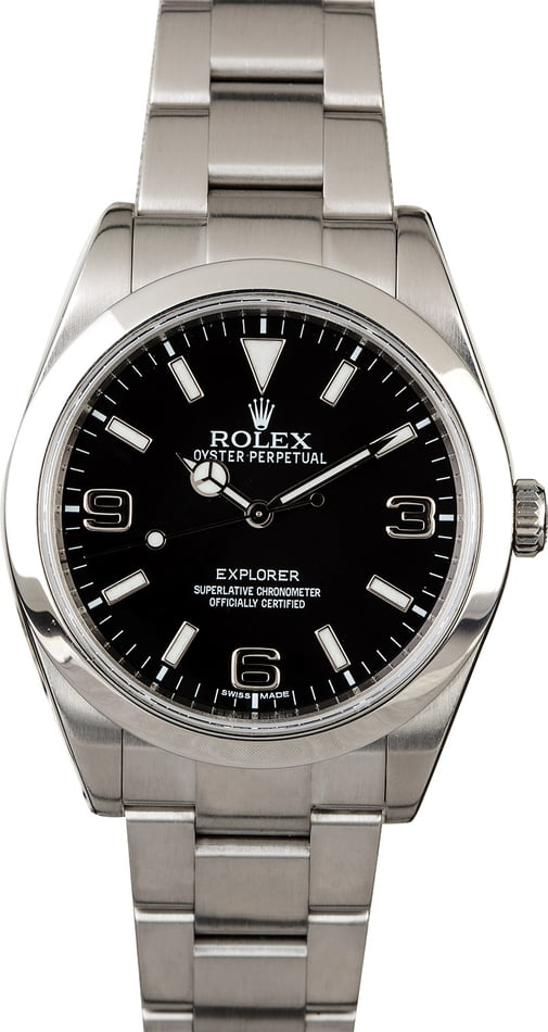Used Rolex Explorer 214270 Arabic Markers
