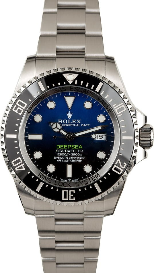 PreOwned Rolex SeaDweller 126660 D-Blue Dial