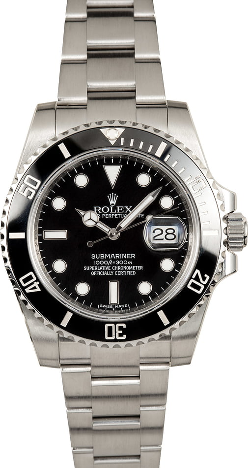 Rolex Submariner 116610 Black Ceramic Bezel Insert