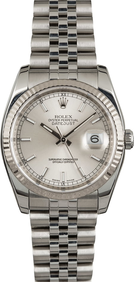 Rolex Datejust 116234 Silver Index Dial