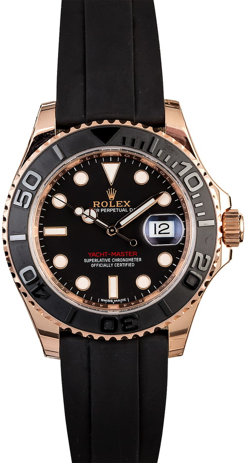 Used Rolex Yacht-Master 116655 Everose Gold