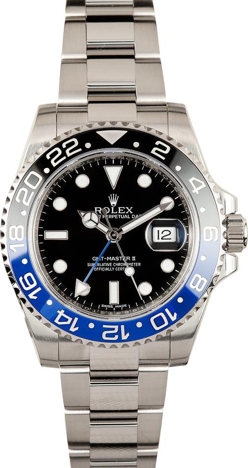 Preowned Rolex Gmt Master Ii 116710 Batman