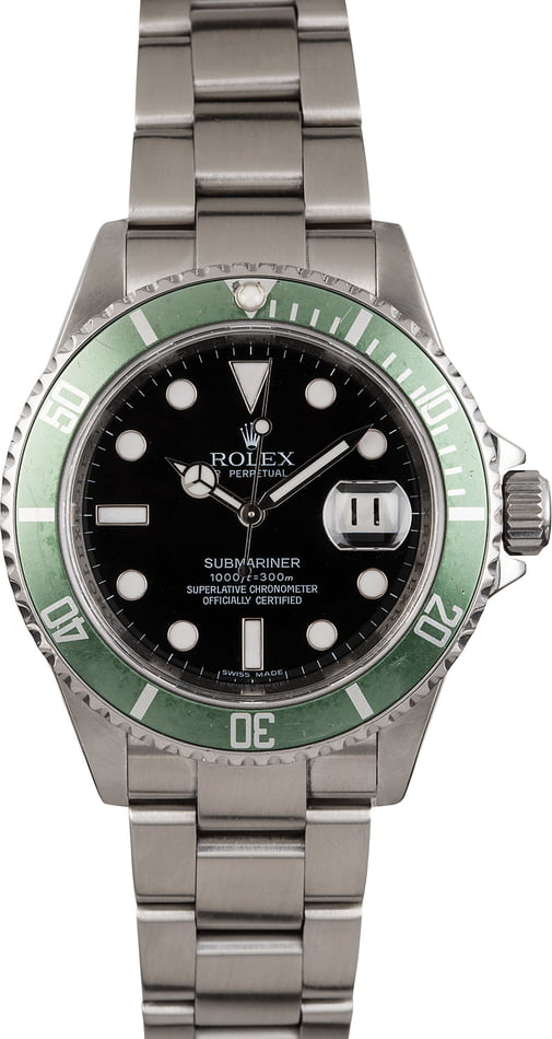 Rolex Submariner Green Anniversary Edition 16610