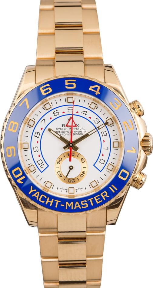 Rolex 18k Yellow Gold Yachtmaster II Model 116688