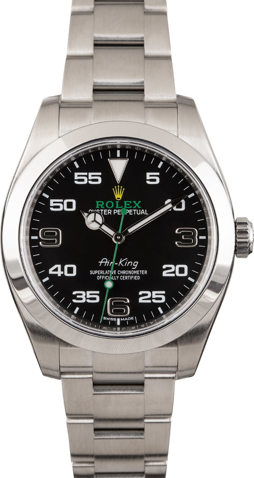 PreOwned Rolex Air-King 116900 Black Dial