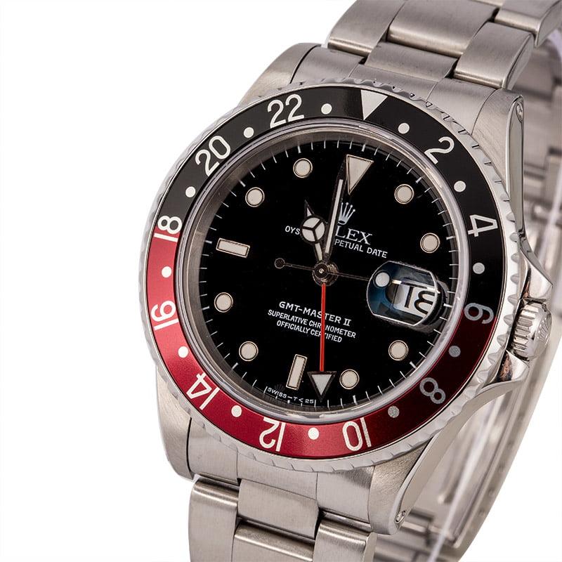 Rolex Gmt Master Ii 16710 Pre Owned Oyster Bracelet Coke Bezel Circa 1996
