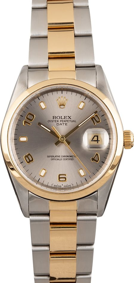 Pre Owned Rolex Date 15203 Two Tone