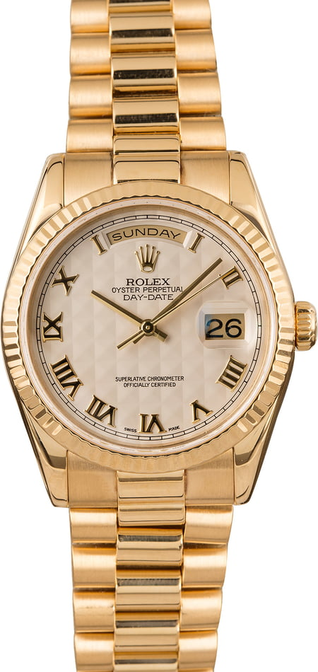Rolex Day Date Roman Dial 118238