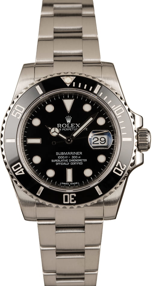 Pre-Owned Rolex 40MM Submariner 116610 Black Dial