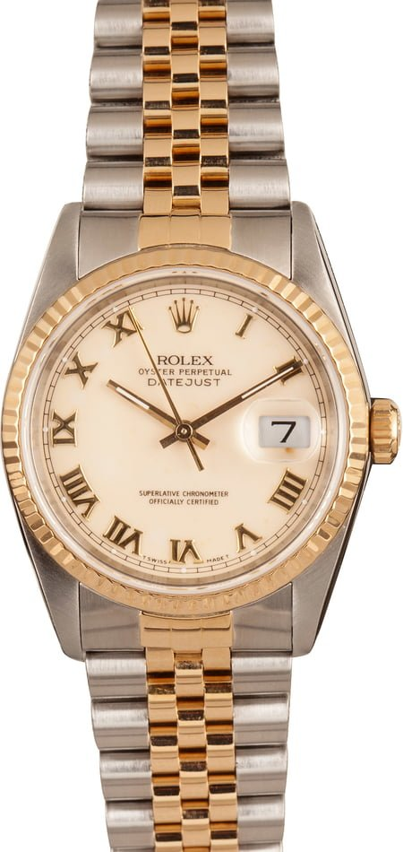 Men's Rolex DateJust Stainless and Gold