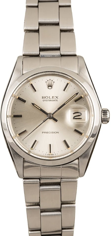 Pre Owned Rolex Oyster Date Stainless Steel 6694