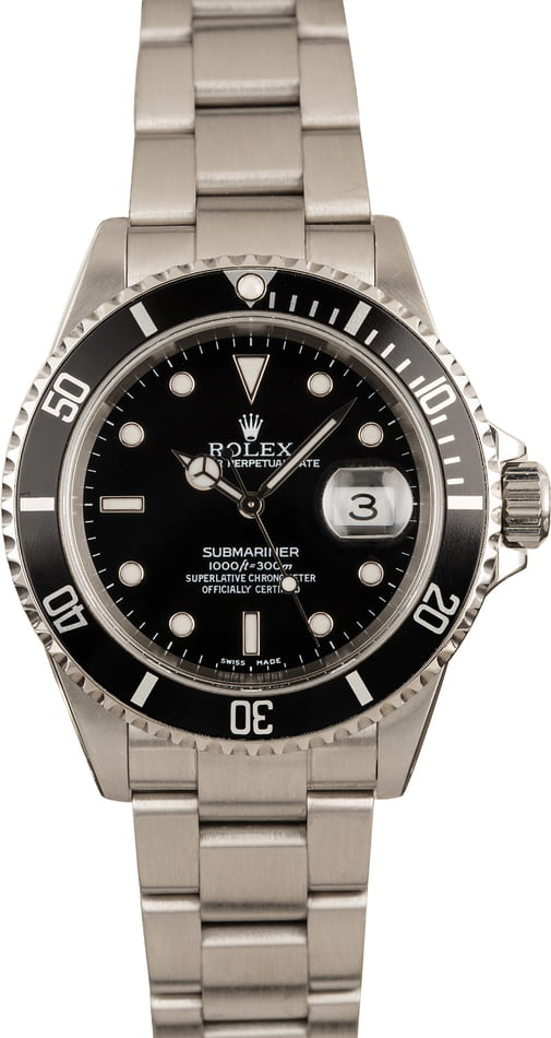 Pre-Owned Rolex Stainless Submariner 16610