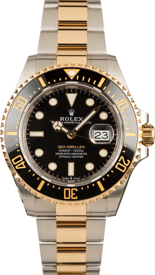 Pre-Owned Rolex Sea-Dweller 126603 Two-Tone