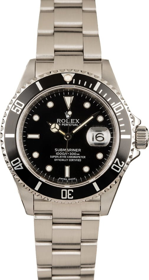Pre-Owned Rolex Submariner 16610 Luminous Watch