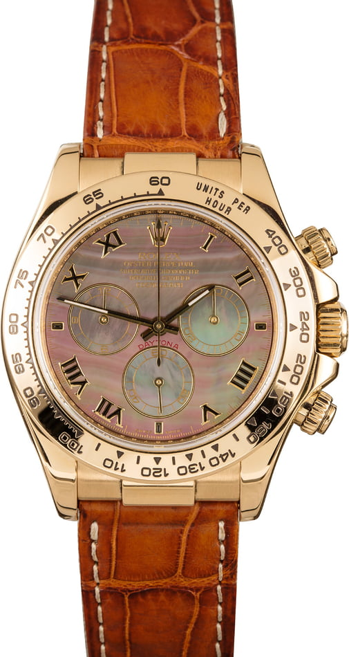 Rolex Daytona 116518 Black Mother Of Pearl