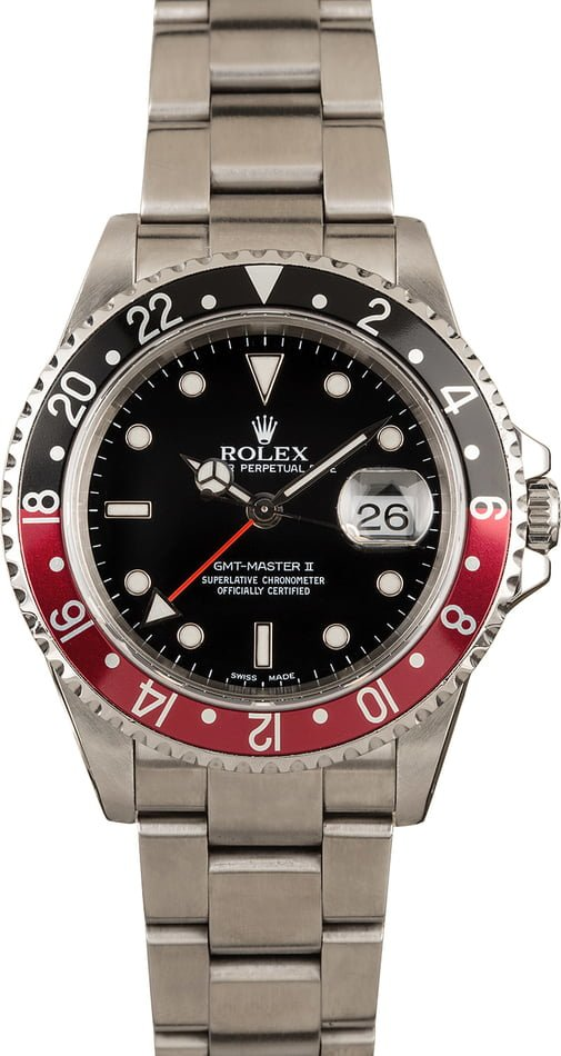 Pre-Owned Rolex GMT-Master II 16710 Men's, Stainless Steel Oyster Bracelet