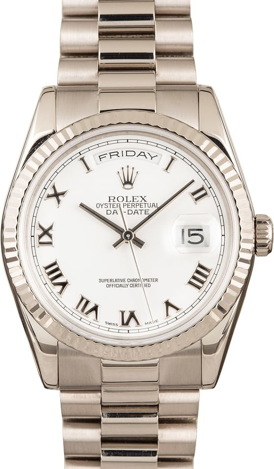 Presidential Rolex Day-Date 118239 White Gold