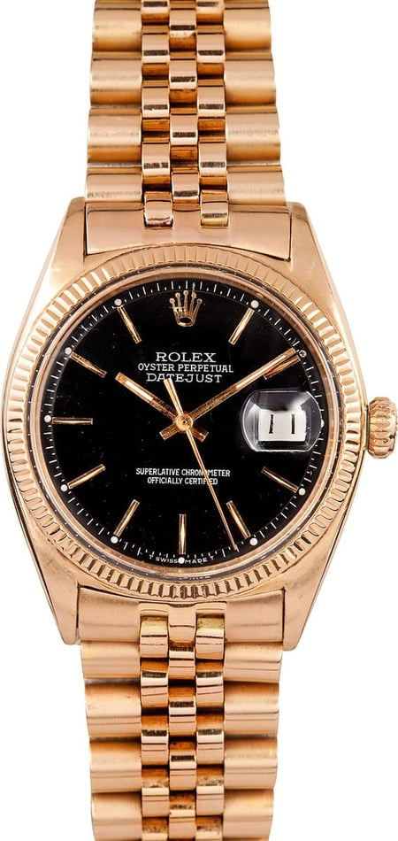 Rolex DateJust 18k Gold 1601