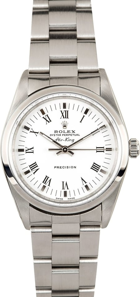 Air-King Rolex 14000 White Roman Dial